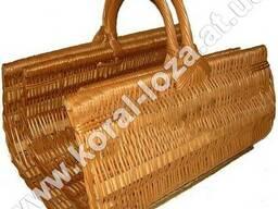Набор плетеных корзин из лозы для камина из 2шт. 200_2-34