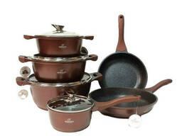 Набор посуды 11 предметов коричневый Bohmann BH-60-11-brown
