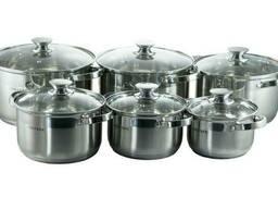 Набор посуды нержавеющий Astor - 1, 9 x 2, 6 x 3, 6 x 4, 7 x. ..