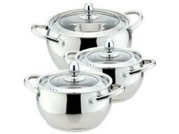 Набор посуды нержавеющий Maestro - 1, 5 х 2 х 4 л, (3 шт. ). ..