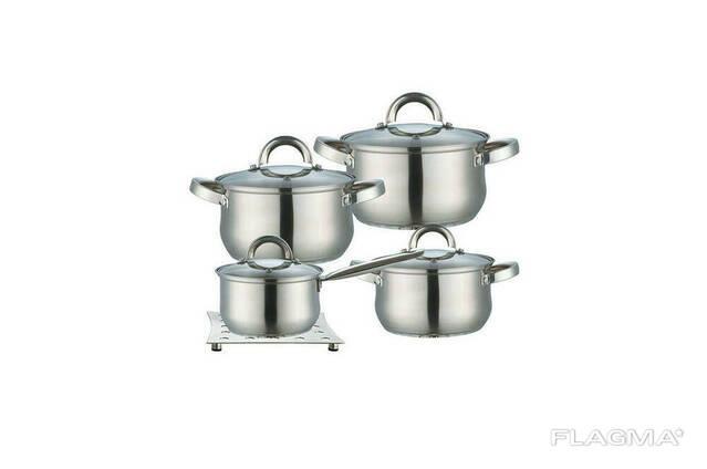 Набор посуды нержавеющий Maestro - 2 х 3 х 4 л х 1,5 л +. ..