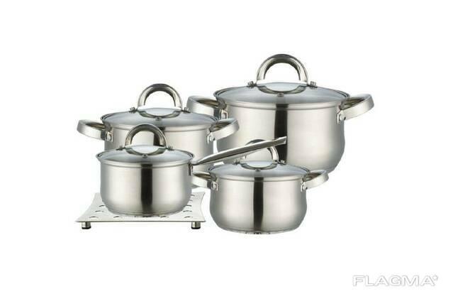 Набор посуды нержавеющий Maestro - 2 x 3 x 4 л x 1,5 л +. ..