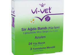 Набір воскових смужок Unice Vi-Vet для депіляції обличчя з екстрактом ромашки , 27 шт