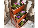 Набор ящиков для цветов с подставкой для дома и улицы - фото 4