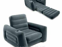 Надувное раскладное кресло Intex 66551, 117 х 224 х 66 см, черное