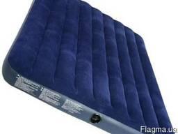 Надувной флокированный 203х152х43 матрас матрац Intex 68755