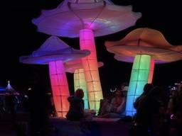 Надувной гриб декорация с подсветкой