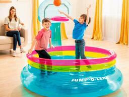 Надувной игровой центр-батут Intex 48265 Shoot'n Bounce Jump-o-lene (196 x 180 x 152 см)