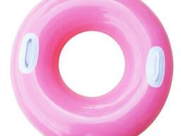Надувной круг с ручками Intex 59258 Розовый (int59258_3)