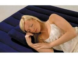 Надувная синяя подушка, intex