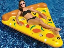 Надувной матрас Пицца. Игрушка Пицца для пляжа и бассейчас