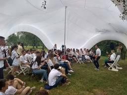 Надувной промошатер палатка