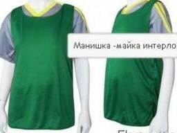 Накидка-манишка зеленого цвета