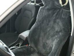 Накидка на сиденье автомобиля из натурального меха овчины. ..