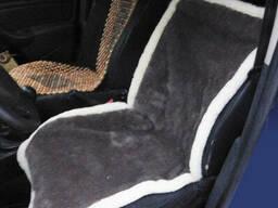 Накидка на сиденье автомобиля из овчины (1 штука) - шоколад