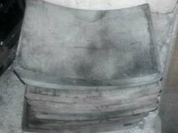 Накладки на тормозные колодки ЗиЛ-130 задние.