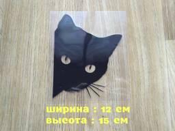 Наклейка на авто Кот Чёрная