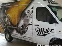Рекламньіе наклейки на авто, реклама на транспорте