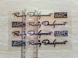 Наклейки на ручки WRC Черная номер 4 , диски, дворники
