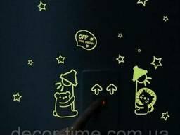 Наклейки на стену, светящиеся в темноте, на выключатель 056