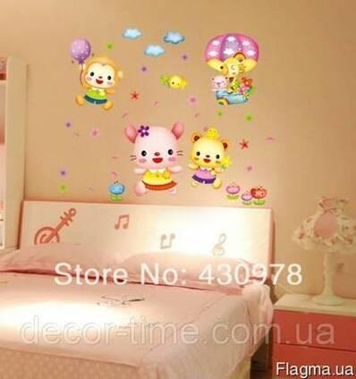 Наклейки на стену в детскую комнату 046