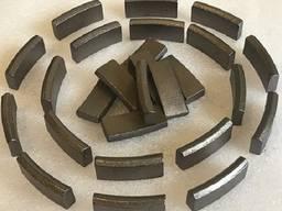 Восстановление алмазных сегментов на коронках.