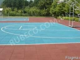 Напольное резиновое покрытие для школьных спортивных залов