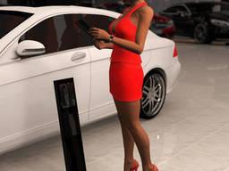 Напольные рекламные стойки для Mercedes-Bens