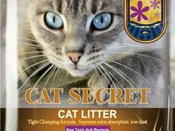 Наповнювач для котячих туалетів: CAT Secret Bentonite CAT Litter Lavender Scent. ..