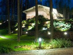 Наружное освещение дома, а также участка
