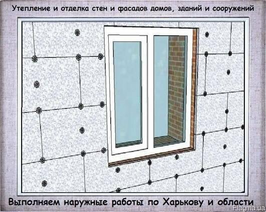 Наружное утепление и отделка стен и фасадов домов и зданий