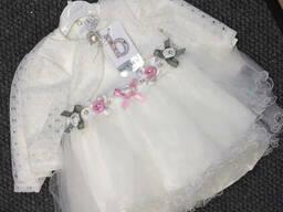 Нарядное пышное платье с кружевным болеро