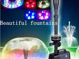 Насос для фонтана 100W LED-10000FP 6500л/ч со светодиодной подсветкой RGB 30LED для пруда