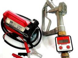 Насос для заправки топлива со счетчиком 12в.
