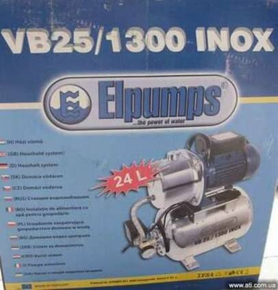 Насосная станция Elpumps VB25/1300 Inox Double