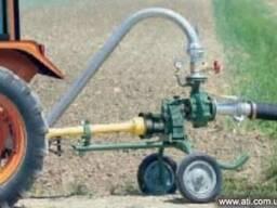 Насос для полива,привод от трактора