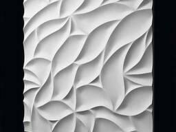 """Настенные 3Д панели"""" листва"""" из гипса"""