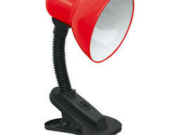 Настольная лампа-прищепка с кнопкой LU-LN-1111 красная TM. ..