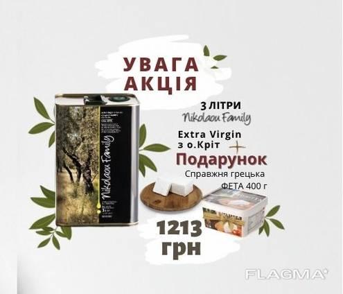 Настоящее оливковое масло из Греции. Extra Virgin 3 л. холодный отжим