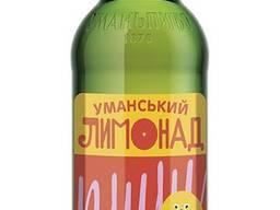 Натуральный Уманский лимонад в стеклянных бутылках 0,5л, опт