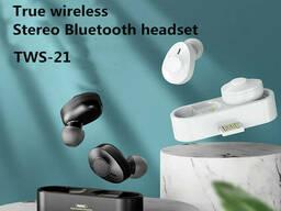 Наушники беспроводные Bluetooth Remax TWS-21, белые