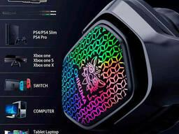 Наушники игровые Onikuma RGB LED X3, черные