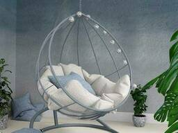 Навісне крісло кокон куля з металу недорого в стилі loft