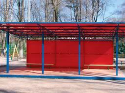 Навесы из поликарбоната теневые для детских площадок и садов