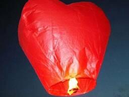 Небесные фонарики в форме сердца, купить, летающий фонарик