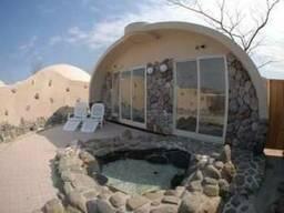 Недорогой дом за 110$ м. кв. , строительство купольный домов