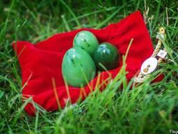 Нефритовые яйца - набор (настоящий нефрит)