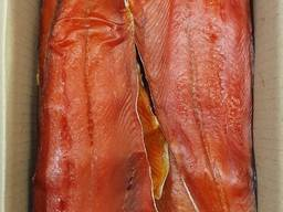 Нерка. Филе нерки. Вяленая рыба. Копченая рыба. Лосось. Кета. Кижуч. Горбуша.