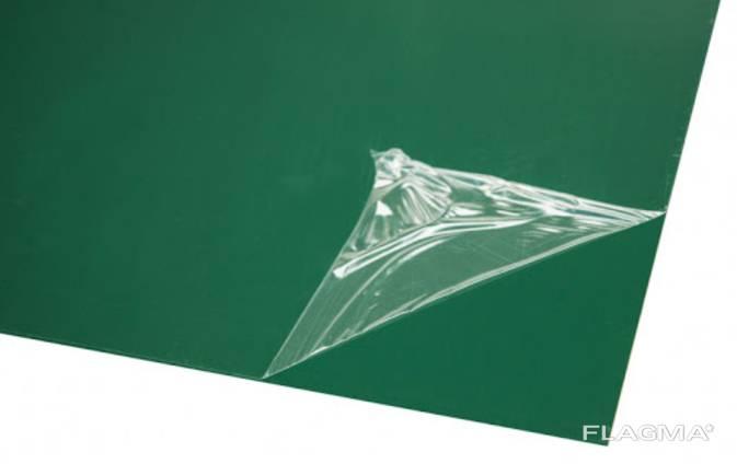 Нержавейка в листах с покрытием зеленого цвета