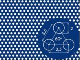 Перфорированый лист PA Rv2-3, 5/1, 5/1000x2000